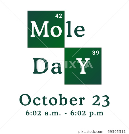 Mole Day vector illustration. Holiday celebrated among chemists and chemistry enthusiasts on October 69505511
