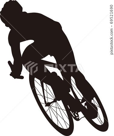 자전거 실루엣 69521690