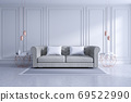 Modern and classic livingroom interior design, white and cozy room concept ,house decoration ideas 69522990