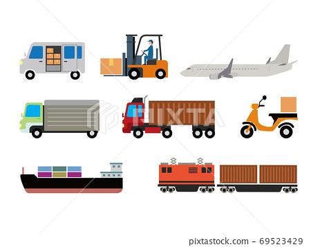 배송 및 물류 일러스트 세트 69523429