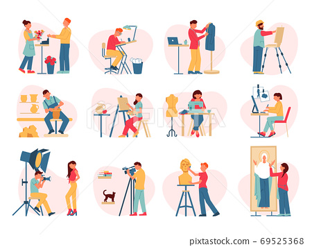 Creative Professions Icon Set 69525368