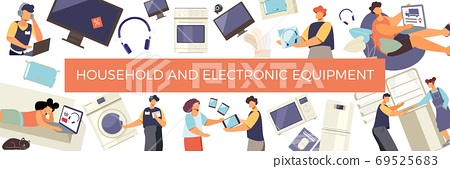 Household Electronic Equipment Composition 69525683