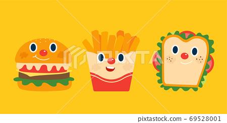 Breakfast food set 69528001