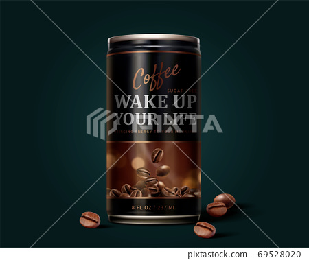 Black coffee promo design 69528020