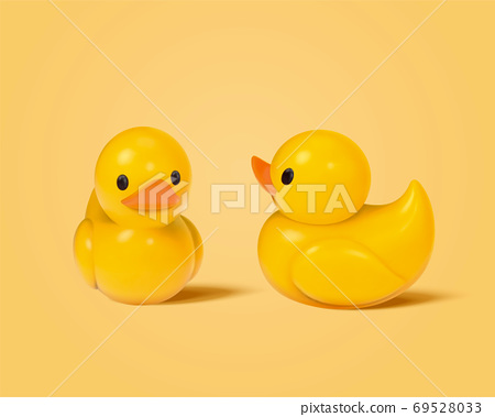 Cute toy duck figurines 69528033