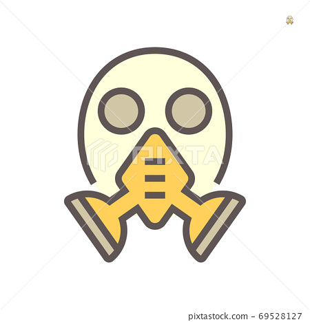 Gas mask tool for industry work vector icon 69528127