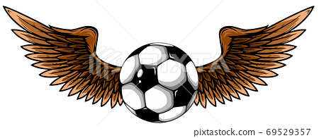 football ball with wings emblem soccer design vector 69529357