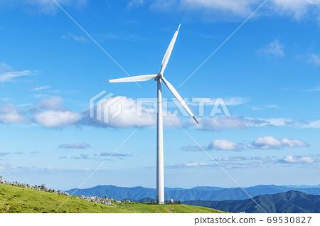 시코쿠 카르스트와 풍력 발전소 69530827