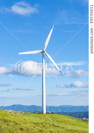 시코쿠 카르스트와 풍력 발전소 69530831