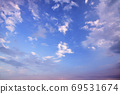 Evening sky and turbulent clouds 69531674