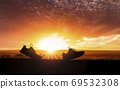 Concept design for Trail running at the sunset time 69532308