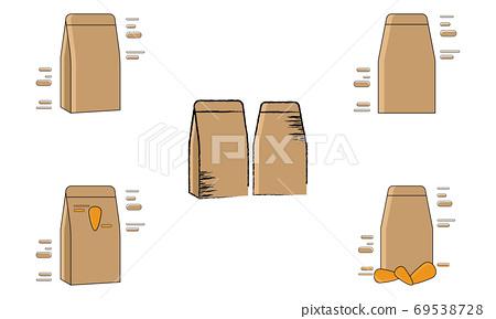 Set of groceries bags 69538728