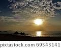日本海的夕阳 69543141