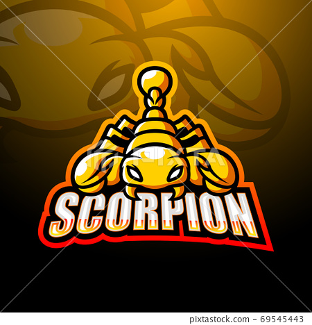 Scorpion mascot esport logo design	 69545443