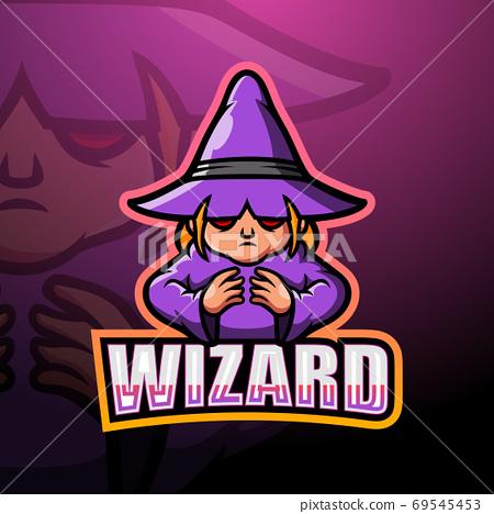 Wizard mascot esport logo design 69545453
