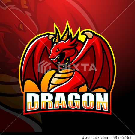 Dragon mascot esport logo design 69545463
