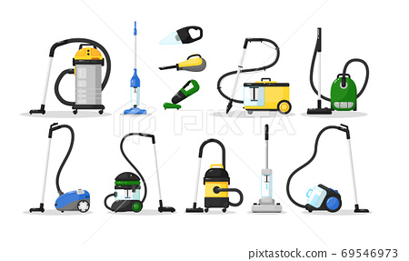 Vacuum cleaner electric home appliance icon set 69546973