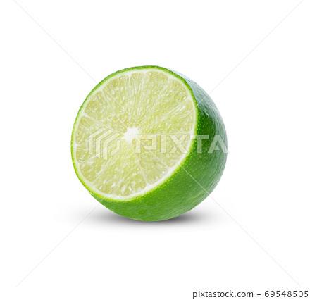 green lemon on white background. 69548505
