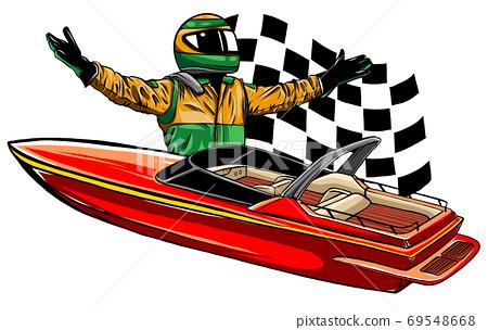 Motor boat race Vector illustration design art 69548668