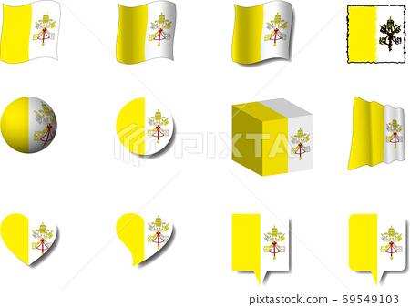 梵蒂岡旗集 69549103