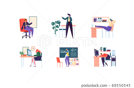 Business Characters Working in Office. Management 69550545
