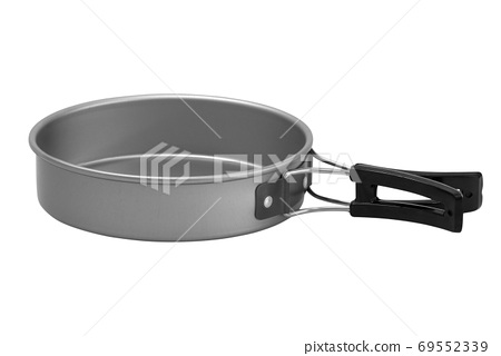 pots prepared for cooking isolated on background 69552339