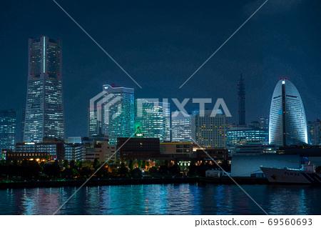 [神奈川縣]港未來的夜景 69560693