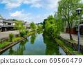 岡山縣倉敷河和沿河排成一排的樹木 69566479