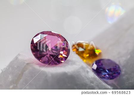 .amethyst diamonds on the white background 69568623