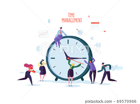 Time Management Concept. Flat Characters 69570986