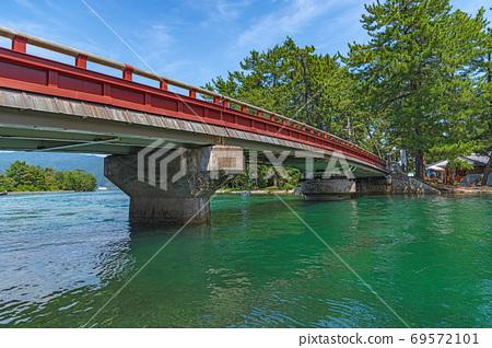 Amanohashidate turning bridge 69572101