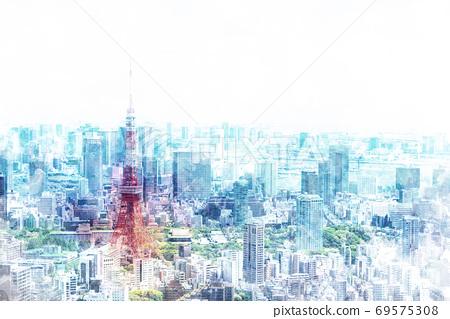 在東京的城市景觀 69575308