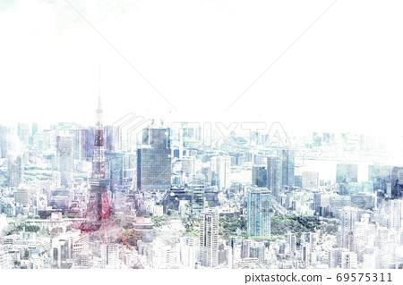 在東京的城市景觀 69575311