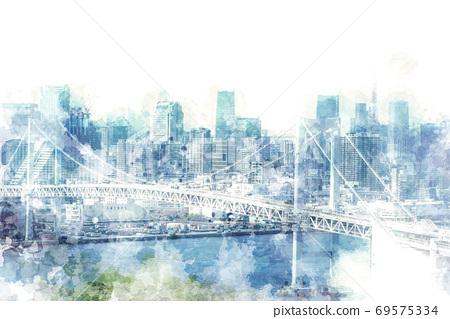 Cityscape seen from Odaiba 69575334