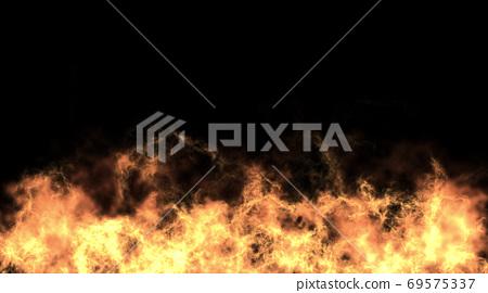 성난 불길 배경 그래픽 69575337