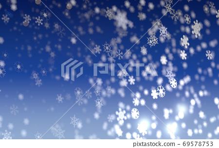 Snow falling night 69578753