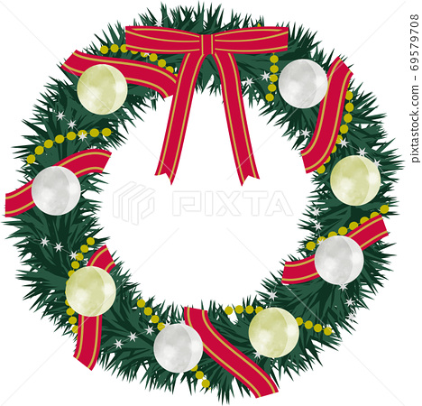 Chic and fashionable Christmas wreath 69579708