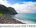 美丽的蓝色大海与绿色的小岛 69579898