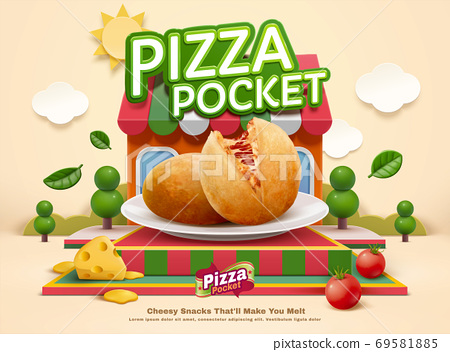 Pizza pocket ad template 69581885