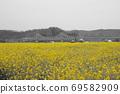 봄날 유채꽃 밭에서 69582909