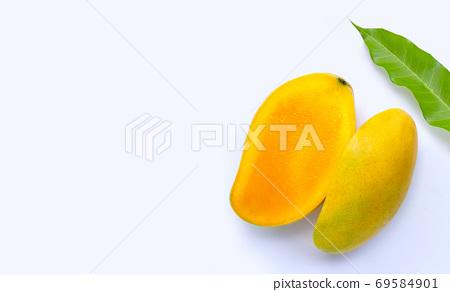 Tropical fruit, Mango  on white background. 69584901
