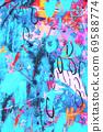 Hand drawn modern Multi Colored mixed media art canvas 69588774