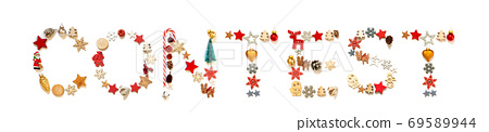 Colorful Christmas Decoration Letter Building Word Contest 69589944