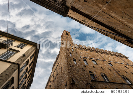 Medieval Bargello Palace in Florence downtown - Tuscany Italy 69592195