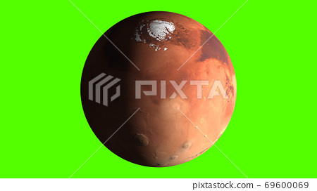 Mars, the red planet on green screen 69600069
