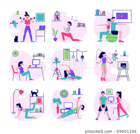 Home Fitness Flat Set  69601398
