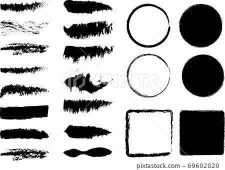 Japanese style, Japanese pattern brush character line 69602820