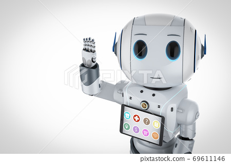 cute artificial intelligence robot assistant 69611146