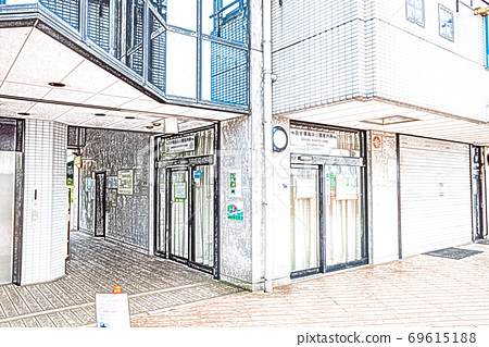[Odaiba] Odaiba Seaside Park Information Center [Colored pencils] 69615188