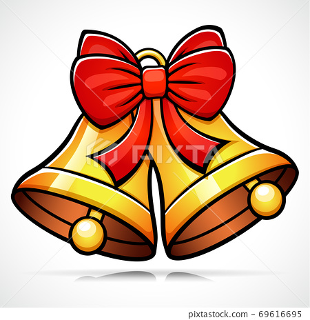 Vector christmas bell cartoon illustration 69616695